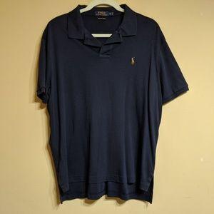 Polo Shirt Men Size XL Dark Blue